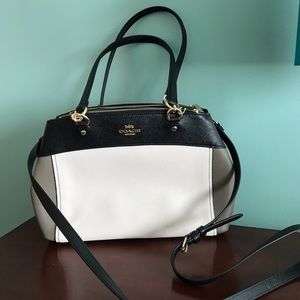 Coach Brooke color block Satchel leather
